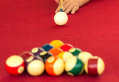 Playing pool, Billiard Royalty Free Stock Images