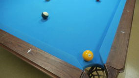 Playing pool stock footage