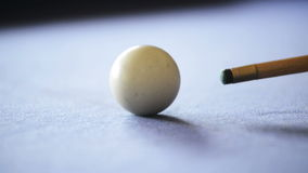 Playing Pool on Pool Table stock footage
