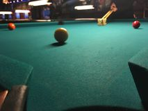 Playing pool Royalty Free Stock Photo
