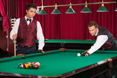Playing pool. Stock Image