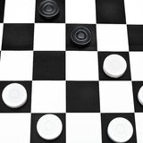 Playing position on draughts board Stock Photos