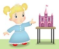Playing Princess stock illustration