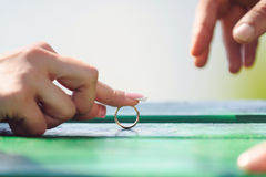 Playing with Ring Royalty Free Stock Image