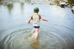 Playing in river Royalty Free Stock Photography