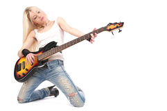 Playing rock Royalty Free Stock Photos