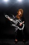 Playing rock music royalty free stock image