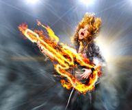 Playing rock music Royalty Free Stock Photo