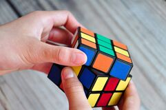 Free Playing Rubik S Cube Stock Photography - 171895032