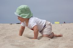 Playing on sand Stock Image