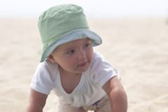 Playing on sand Royalty Free Stock Photography