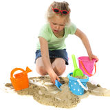 Playing with sand Royalty Free Stock Photo