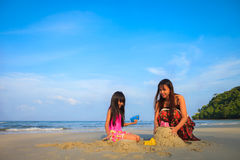 Playing sand Royalty Free Stock Image