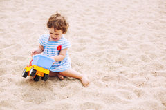 Playing on sand Royalty Free Stock Image