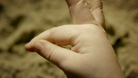 Playing With Sand stock video footage