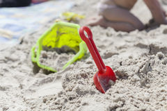 Playing in the Sand Royalty Free Stock Photo