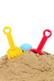 Playing in the sand Stock Photography