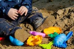 Playing in the sandbox Stock Image