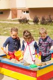 Playing in the sandbox Royalty Free Stock Photography
