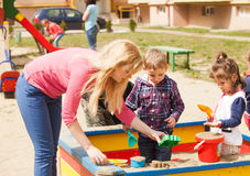 Playing in the sandbox Stock Photography