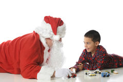 Playing with Santa Stock Photos