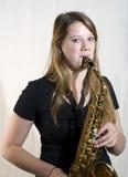 Playing sax Royalty Free Stock Image