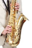 Playing saxophone Royalty Free Stock Image