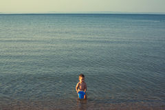 Playing on seaside Royalty Free Stock Image