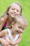 Playing sister and younger brother Royalty Free Stock Photos