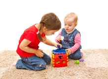 Playing sisters Stock Images