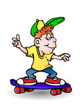 Playing skateboard Royalty Free Stock Photography