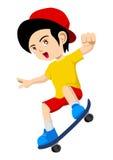Playing Skateboard Stock Image