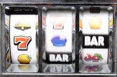 Playing slot machine royalty free stock photography