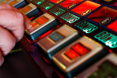 Playing the slots Royalty Free Stock Photo