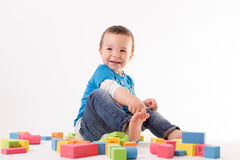 Playing small boy Royalty Free Stock Photo