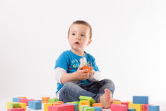 Playing small boy Stock Images