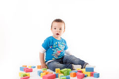Playing small boy Stock Photography