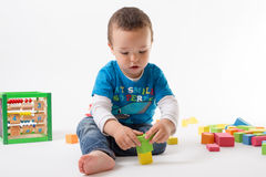 Playing small boy Royalty Free Stock Photos