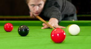 Playing snooker Stock Images
