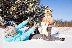 Playing on snow Stock Photography