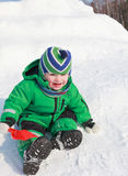 Playing on snow Stock Images