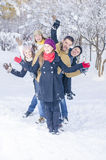 Playing in Snow Stock Images