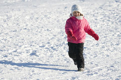 Playing on snow Royalty Free Stock Photos