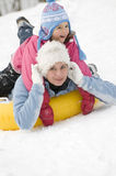 Playing on snow Royalty Free Stock Images