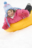 Playing on snow Stock Image