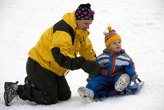 Playing in the snow royalty free stock photography