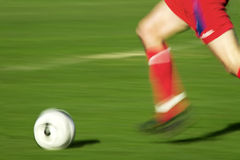 Playing soccer Stock Image