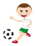 Playing soccer Royalty Free Stock Images