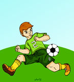 Playing soccer - tackle Royalty Free Stock Photography