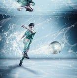 Playing soccer underwater
